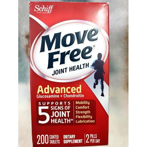 Viên uống bổ khớp Schiff Move Free Advanced 200 viên hàng của Mỹ