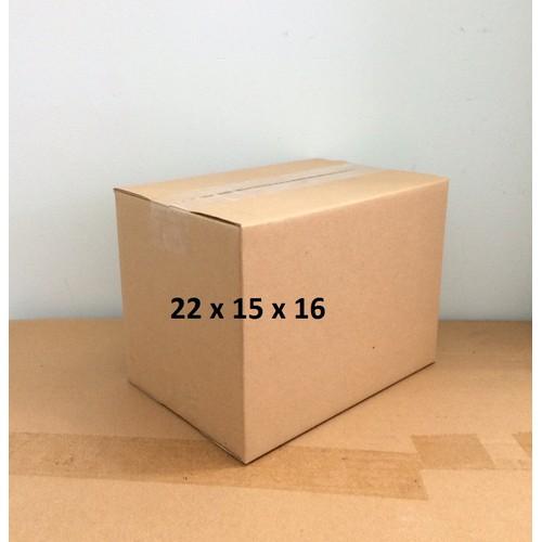 Bộ 50 Hộp Carton KT 22 x 15 x 16 đóng gói hàng