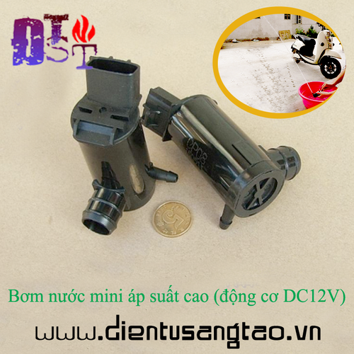 Bơm nước mini áp suất cao, động cơ DC12V