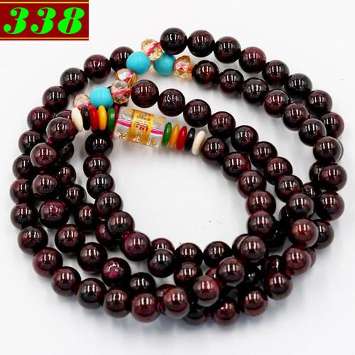 Chuỗi tay 108 hạt ngọc hồng lựu 6 ly BBD4