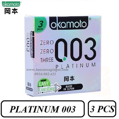 Bao cao su Okamoto Platinum 003 siêu mỏng bóng láng 3 bao - 10422747 , 10872141 , 15_10872141 , 134000 , Bao-cao-su-Okamoto-Platinum-003-sieu-mong-bong-lang-3-bao-15_10872141 , sendo.vn , Bao cao su Okamoto Platinum 003 siêu mỏng bóng láng 3 bao