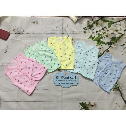 Sét 2 chiếc - áo ghile sơ sinh in hình Hùng Nam