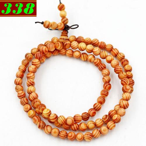 Tràng chuỗi tay 108 hạt gỗ huyết rồng 6 ly