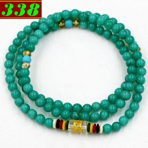 Chuỗi đeo tay 108 hạt ngọc tủy xanh