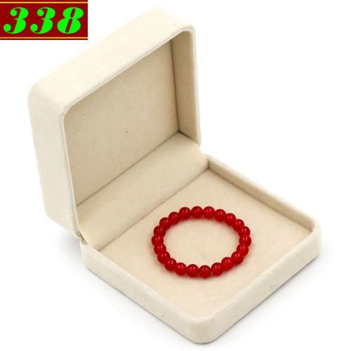 Vòng Chuỗi đeo tay đá thạch anh đỏ 8 ly 22 hạt kèm hộp nhung