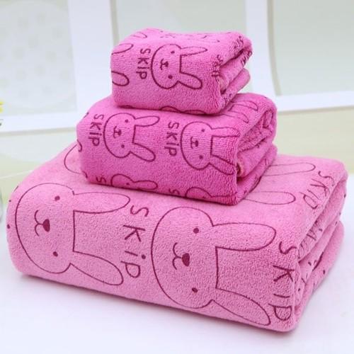 Bộ 3 khăn tắm, khăn mặt, khăn lau tóc cao cấp hồng thỏ - 4272186 , 10457056 , 15_10457056 , 55000 , Bo-3-khan-tam-khan-mat-khan-lau-toc-cao-cap-hong-tho-15_10457056 , sendo.vn , Bộ 3 khăn tắm, khăn mặt, khăn lau tóc cao cấp hồng thỏ