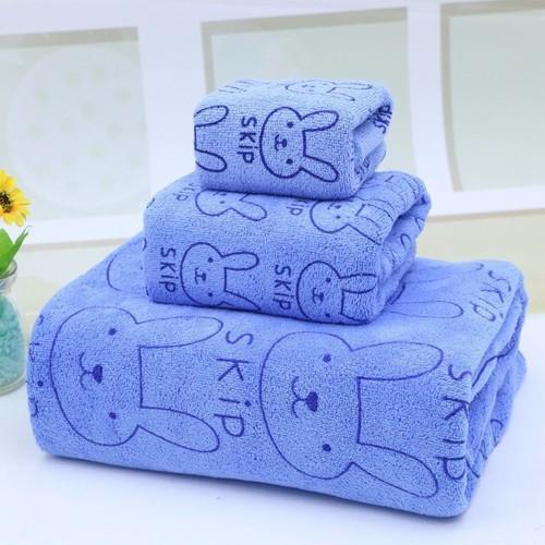 Bộ 3 khăn tắm, khăn mặt, khăn lau tóc cao cấp xanh thỏ - 4271881 , 10456768 , 15_10456768 , 55000 , Bo-3-khan-tam-khan-mat-khan-lau-toc-cao-cap-xanh-tho-15_10456768 , sendo.vn , Bộ 3 khăn tắm, khăn mặt, khăn lau tóc cao cấp xanh thỏ