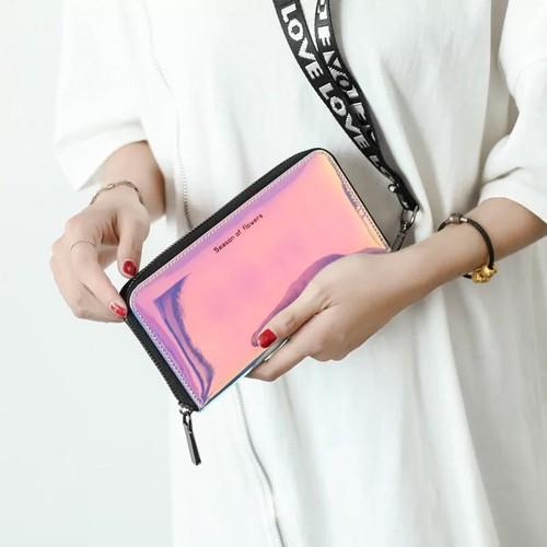 ví thời trang ví dài cầm tay hologram