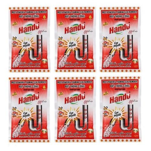Bộ 6 gói bột thông cống Hando 100g - 4273596 , 10459123 , 15_10459123 , 150350 , Bo-6-goi-bot-thong-cong-Hando-100g-15_10459123 , sendo.vn , Bộ 6 gói bột thông cống Hando 100g