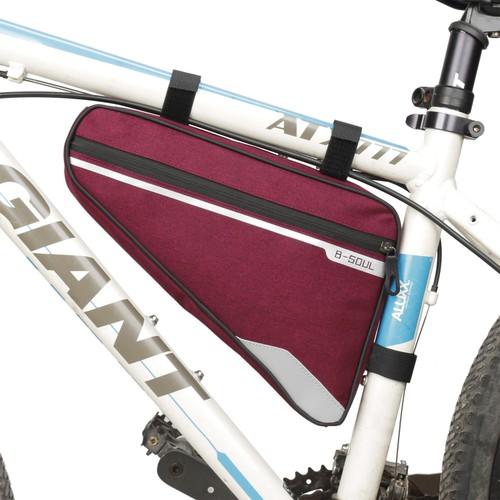 Túi tam giác lớn treo sườn xe đạp b-soul ya250