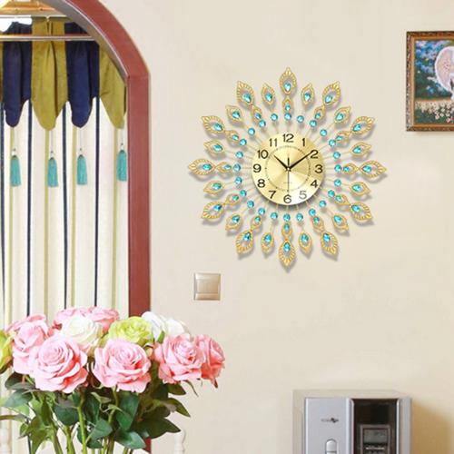 đồng hồ trang trí hoa mặt trời cao cấp