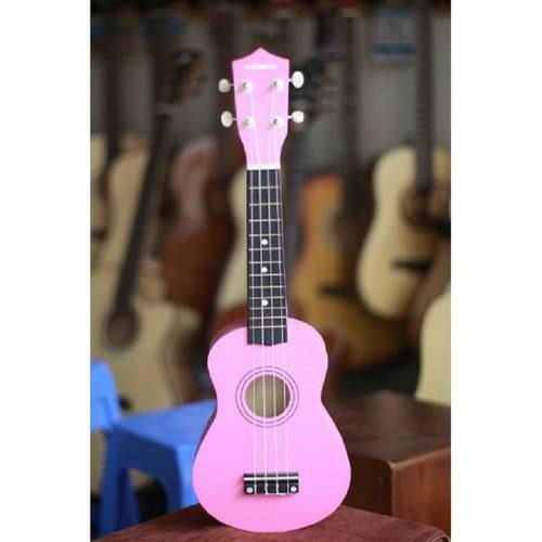 Đàn ukulele soprano hồng nhạt