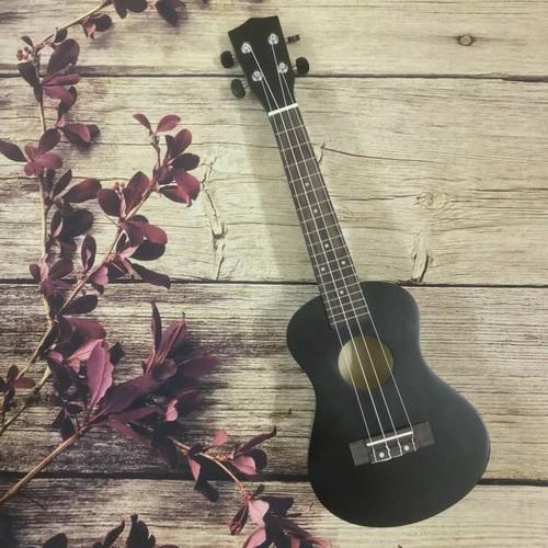 Đàn ukulele soprano đen