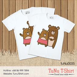 Áo thun cặp đôi - Gấu yêu thương
