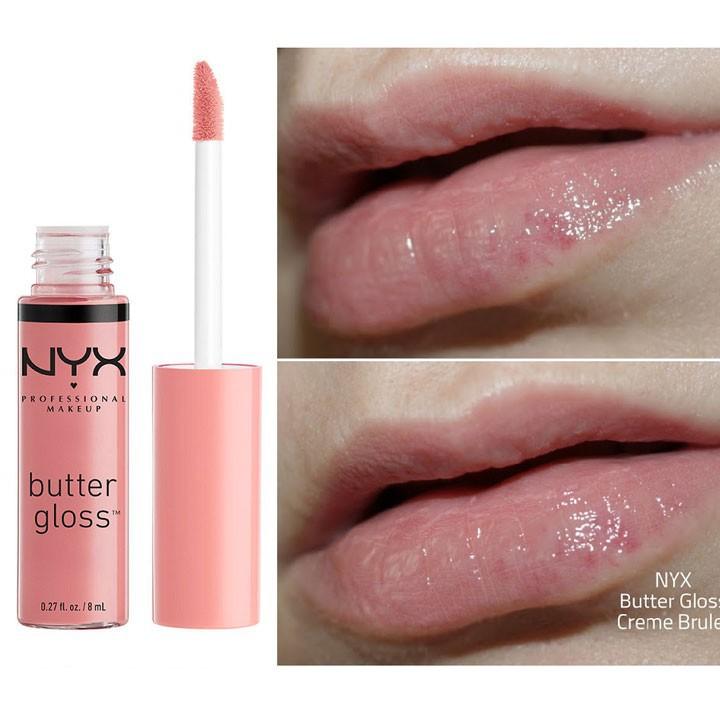 Son kem bóng NYX Butter Gloss BLG05 Creme Brulee - Hồng Nhạt 5