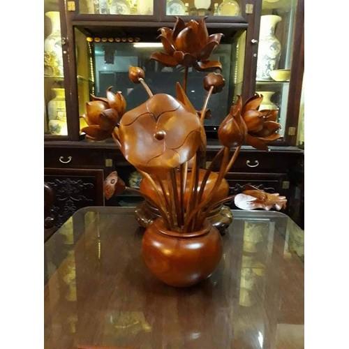 bình hoa sen gỗ - 10721991 , 10881965 , 15_10881965 , 3000000 , binh-hoa-sen-go-15_10881965 , sendo.vn , bình hoa sen gỗ