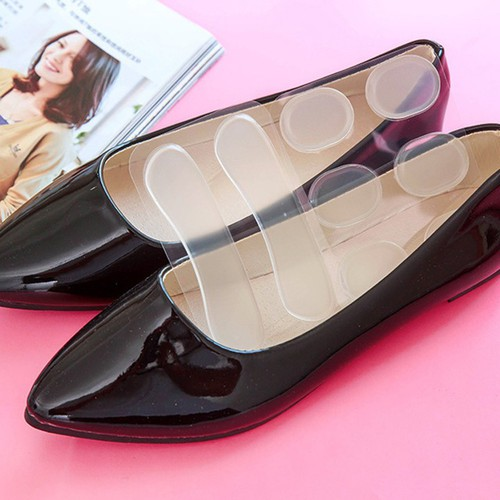 Miếng lót giày silicon chống trầy chân 8 miếng full vị trí