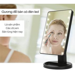 Gương trang điểm có đèn led để bàn tiện lợi - Gương Led trang điểm-HHT1051 thumbnail