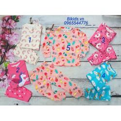 Bộ quần áo cotton co dãn 4 chiều Carter dài tay Việt Nam bé gái 1-5y