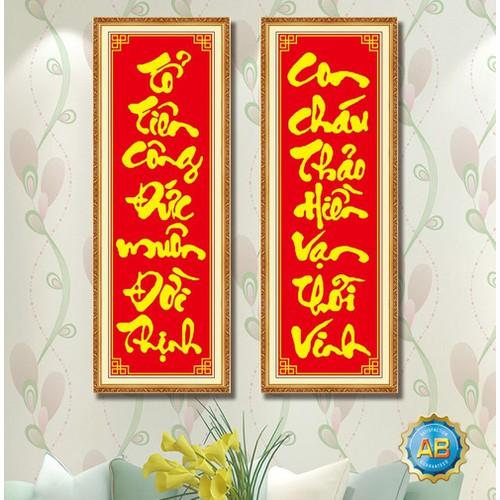 tranh đính đá câu đối bàn thờ - 5084693 , 10891322 , 15_10891322 , 190000 , tranh-dinh-da-cau-doi-ban-tho-15_10891322 , sendo.vn , tranh đính đá câu đối bàn thờ
