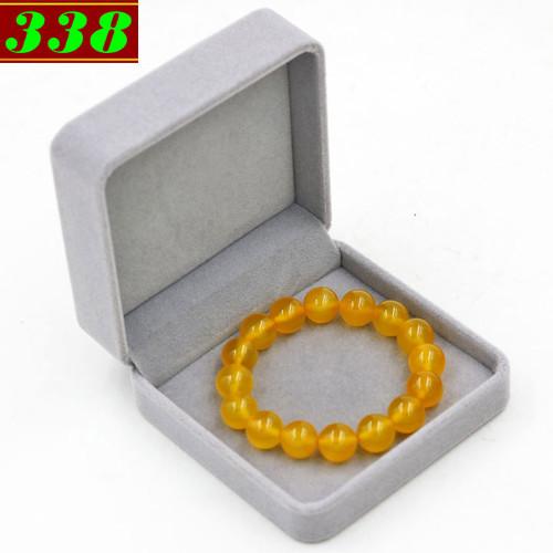 Bộ vòng đeo tay đá hoàng ngọc 12 ly 16 hạt