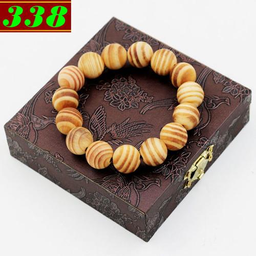 Vòng chuỗi tay gỗ Huyết rồng 15 ly 15 hạt kèm hộp gỗ