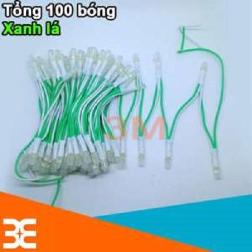 [Tp.HCM] Bộ 100 bóng led liền dây 5VDC phi 5 sáng Xanh Lá siêu đẹp