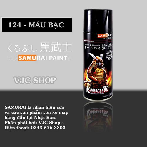 Chai sơn xịt sơn xe máy Samurai màu Bạc - 10721473 , 10879305 , 15_10879305 , 63000 , Chai-son-xit-son-xe-may-Samurai-mau-Bac-15_10879305 , sendo.vn , Chai sơn xịt sơn xe máy Samurai màu Bạc