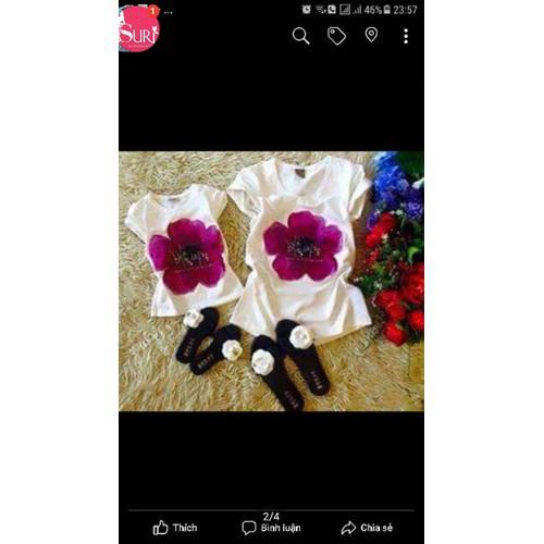 Sét áo thun in hoa cho mẹ và bé - 10720966 , 10877543 , 15_10877543 , 100000 , Set-ao-thun-in-hoa-cho-me-va-be-15_10877543 , sendo.vn , Sét áo thun in hoa cho mẹ và bé