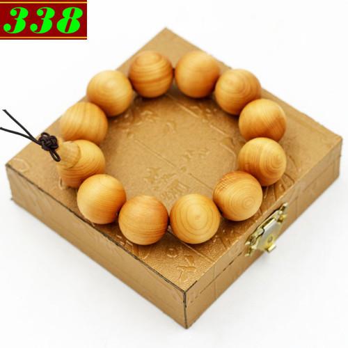 Vòng chuỗi  tay Gỗ Hoàng đàn 20 ly kèm hộp gỗ