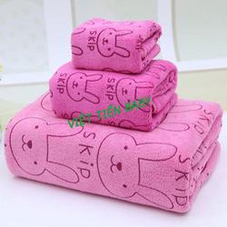 Set 3 khăn tắm dành cho bé-hồng
