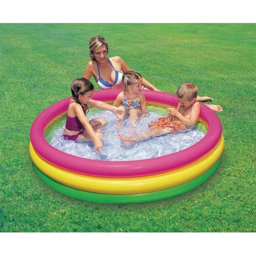Bể bơi tự bơm xếp gọn tại nhà loại nhỏ
