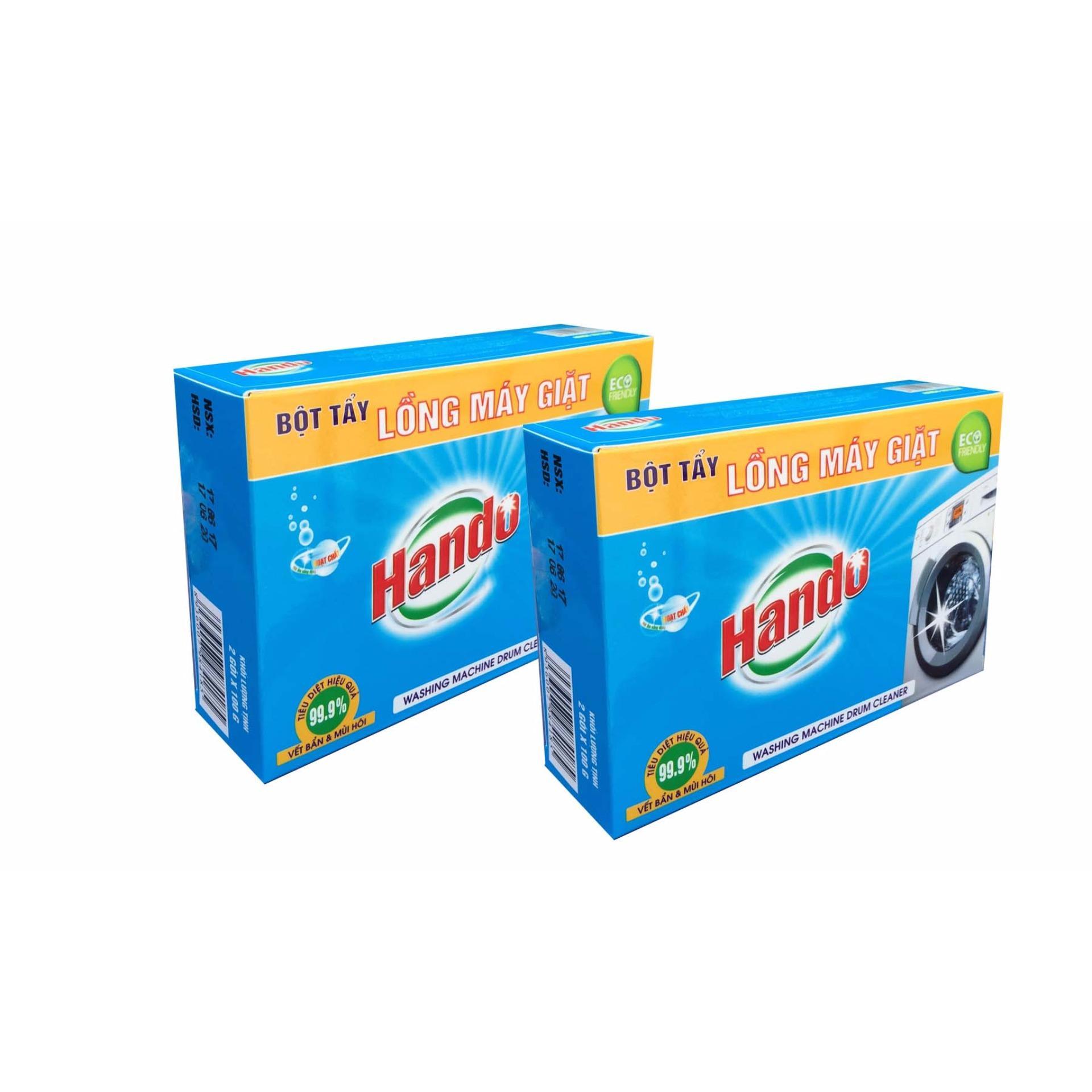 Bách Hóa Online 168 Bộ 2 Hộp 4 Gói Tẩy Lồng Máy Giặt Hando Siêu