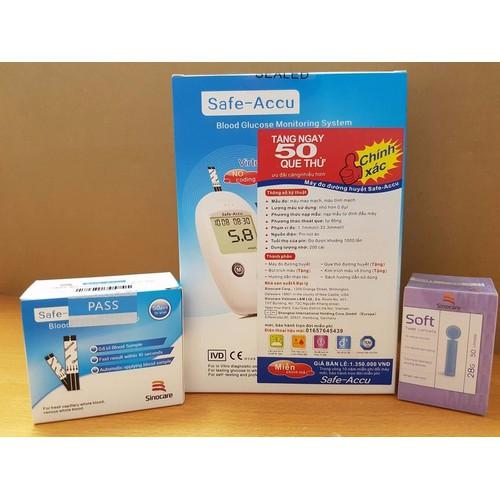 Máy đo đường huyết Safe Accu tặng 50 que thử, 50 kim