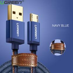Cáp sạc Micro USB Ugreen 40397 Bọc vải Jeans Chính Hãng Dài 1M