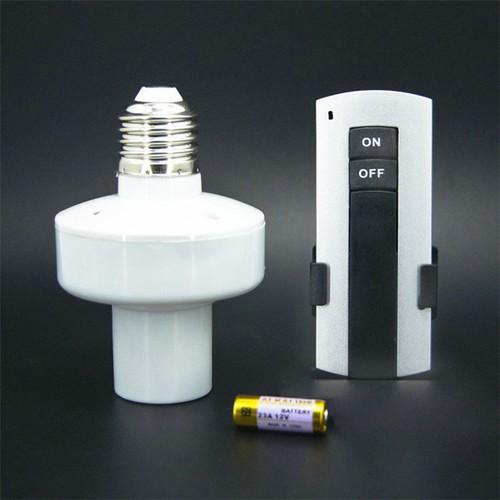 Đuôi đèn E27 điều khiển từ xa sóng hồng ngoại Trắng