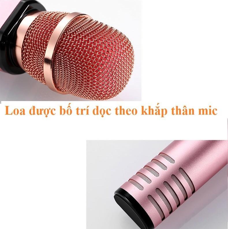 Micro Kèm loa Karaoke Bluetooth  cao cấp PKCB BM06 cắm thẻ nhớ 11