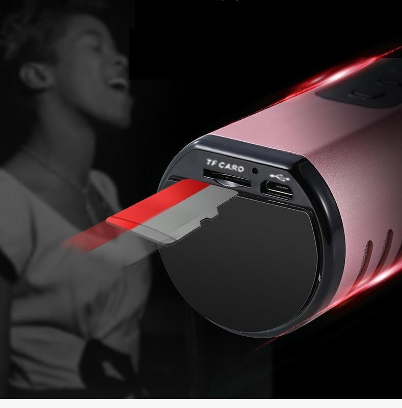 Micro Kèm loa Karaoke Bluetooth  cao cấp PKCB BM06 cắm thẻ nhớ 14