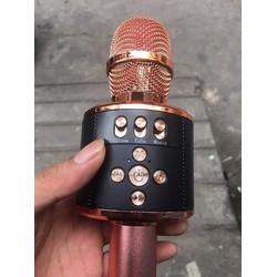 Micro karaoke bluetooth MD01 nhiều nút chỉnh âm