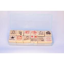 Bộ dấu Lời phê Dạy Tiếng Anh English Teaching Remarks Stamp KHÔNG MỰC