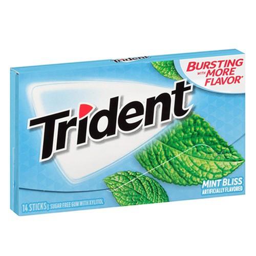 Kẹo cao su Trident Sugar Free Gum - Mint Bliss, 14 miếng