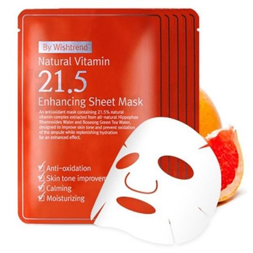 Bộ 5 mặt nạ giấy Natural Vitamin Enhancing Sheet Mask Hàn Quốc 23ml