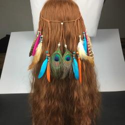 Dây lông vũ cài tóc kiểu thổ dân mẫu 3