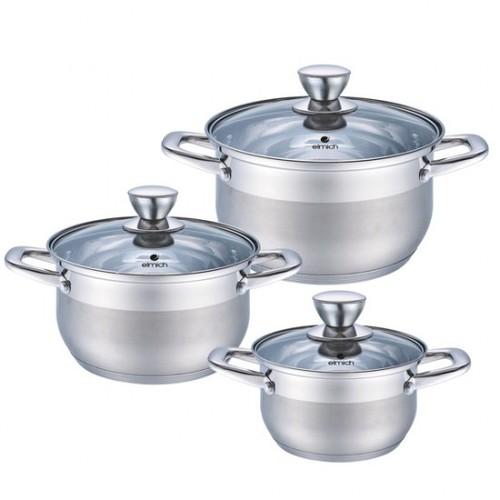 Bộ 3 nồi Inox 5 lớp Elmich EL-3337 size 16,20,24cm dùng bếp từ - 10663377 , 10612152 , 15_10612152 , 1345000 , Bo-3-noi-Inox-5-lop-Elmich-EL-3337-size-162024cm-dung-bep-tu-15_10612152 , sendo.vn , Bộ 3 nồi Inox 5 lớp Elmich EL-3337 size 16,20,24cm dùng bếp từ