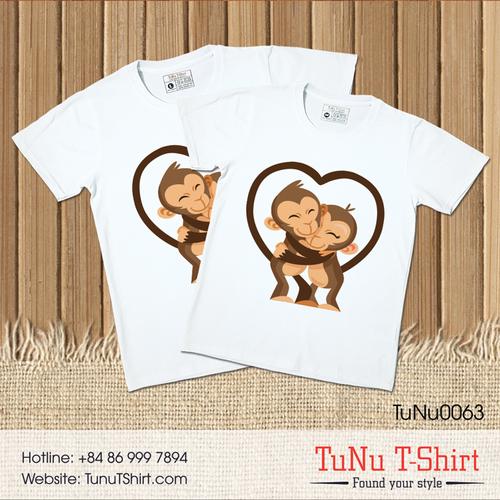 Áo thun cặp đôi - Khỉ yêu thương