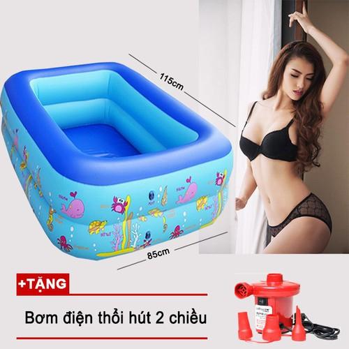 Bể phao bơi 115cm tặng bơm điện   Bể bơi giá rẻ   Hồ bơi cho bé - 4282776 , 10469460 , 15_10469460 , 399000 , Be-phao-boi-115cm-tang-bom-dien-Be-boi-gia-re-Ho-boi-cho-be-15_10469460 , sendo.vn , Bể phao bơi 115cm tặng bơm điện   Bể bơi giá rẻ   Hồ bơi cho bé