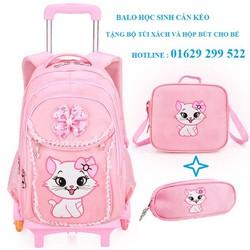 Balo cần kéo học sinh , vali kéo cho bé