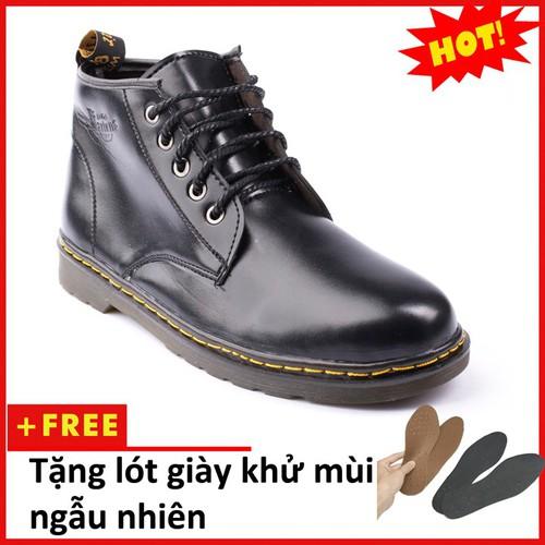 Giày boot nam cổ lửng đen M354-L-DEN
