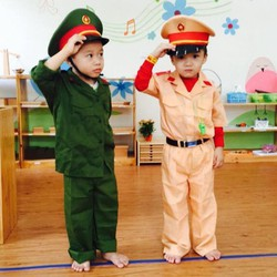 bộ quần áo công an giao thông trẻ em