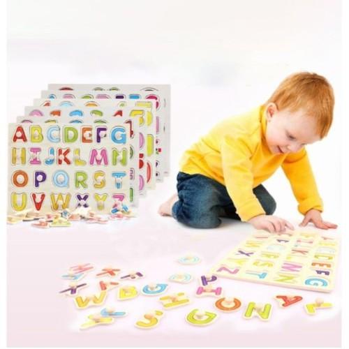 Bảng gỗ ghép hình nhiều chủ đề có núm cho bé